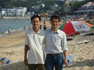 With Tien at the HK beach
